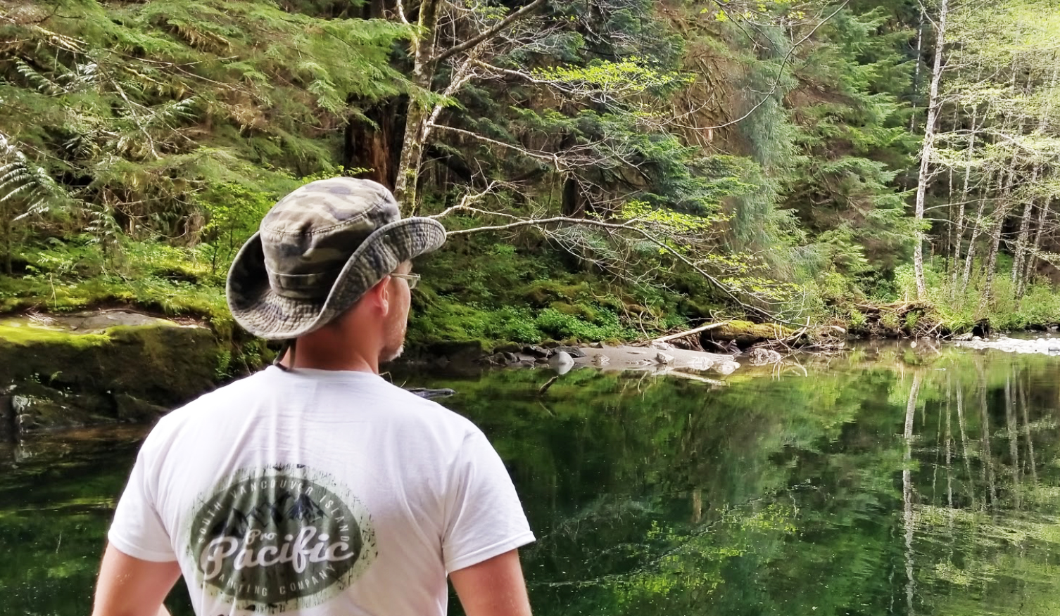Owner and Operator - James Griffin gathering inspiration from the Carmannah Valley